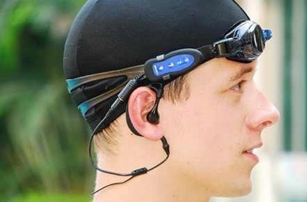 lavod waterproof mp3 player swimming goggles